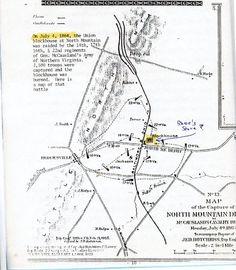 Berkeley County West Virginia Early nineteenth century map of