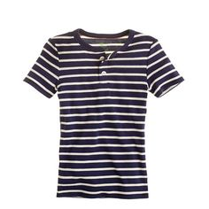 Boys' short-sleeve sleep henley in beach stripe. 3T. $18.50