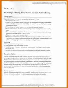 relationships worksheets