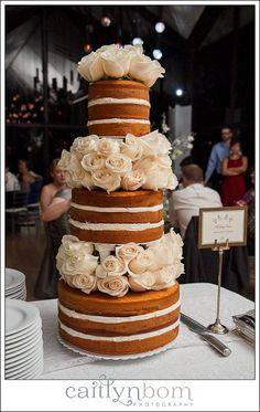 Naked cake #flowers