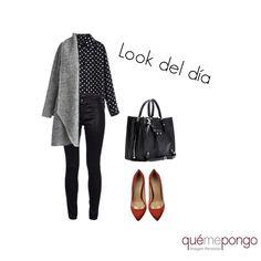 Nuestra propuesta de look del día se estampa de lunares. Outfit sofisticado perfecto para ir a la oficina en clave femenina. #lookdeldia #looks #qmplooks