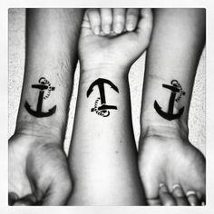 Cute nautical anchor tattoo