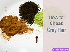 How To Cheat Grey Hair: Hair dyes can be harmful. Henna can be messy and time consuming. So what does a gray hair person do? There is one quick fix Grey Hair Henna, Grey Hair Dye, Dyed Hair, White Hair, Dyed Natural Hair, Natural Hair Styles, Natural Beauty, Natural Life, Natural Living