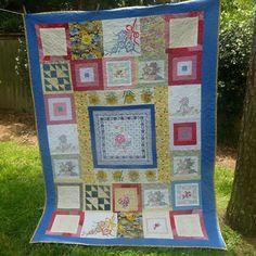 Debra's Design Studio: Clothesline Quilts-useful for old handkerchiefs & pillowcases