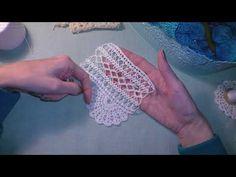 Кайма к кухонной занавеске. Придумываю кайму сама. - YouTube Irish Crochet, Fingerless Gloves, Arm Warmers, Crochet Earrings, Knitting, Holy Quran, Youtube, Crochet Edgings, Crochet Stitches