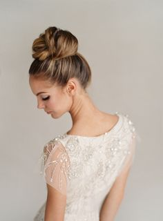 top knot made glam for your wedding day
