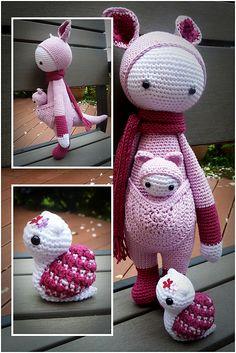 "Ravelry: Project Gallery for ""KIRA"" - lalylala crochet pattern N° VII - Kangaroo pattern by Lydia Tresselt"