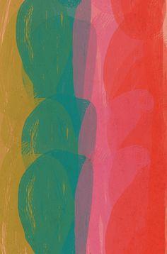 .Ashley Goldberg swaths of color aqua coral