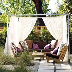 12 DIY Inspiring Patio Design Ideas  privacy screen with PVC pipe
