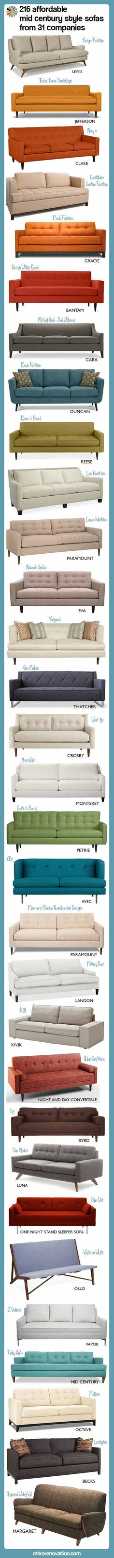 Modern couch ideas 216 affordable mid century modern style sofas -- from 31 companies - Retro Renovation Mid Century Modern Couch, Mid Century Sofa, Mid Century Decor, Mid Century House, Mid Century Modern Design, Mid Century Modern Furniture, Retro Furniture, Futuristic Furniture, Plywood Furniture