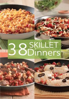 Skillets are perfect for family dinners...they are so easy to make and so is the clean up!