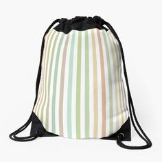 'Colorful stripes part 7 Drawstring Bag by condemarin Iphone Wallet, Woven Fabric, Drawstring Backpack, Chiffon Tops, Classic T Shirts, Stripes, Tote Bag, Totes, Taschen