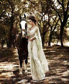 beautiful sari and pic