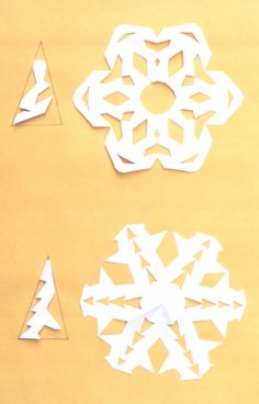 make paper snowflakes for your winter parties! My NYE WILL have gorgeous snowflakes even though we are in Texas! Snowflake Cutouts, Simple Snowflake, Snowflake Pattern, Making Paper Snowflakes, How To Make Snowflakes, Diy Snowflakes, Noel Christmas, Winter Christmas, All Things Christmas