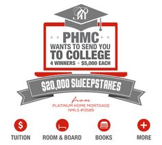 PHMC WANTS TO SEND YOU TO COLLEGE - $20,000 SWEEPSTAKES  http://virl.io/mAHBBTQs