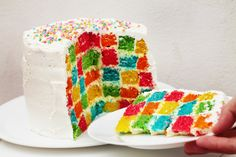 PASTEL AJEDREZ ARCOÍRIS (Rainbow Checkerboard Cake Tutorial)