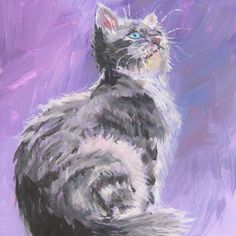 Learn how to paint your kitten or cat in this step by step painting tutorial by Ashley at Createful Art on Youtube. In this lesson, you will also learn how to paint fur and paint in a fun loose style. You can also commission your pet painting with Ashley. Kitten paintings cat paintings easy acrylic paintings Simple Acrylic Paintings, Acrylic Painting Tutorials, Acrylic Art, Easy Canvas Art, Diy Canvas, Kitten Drawing, Paint Your Pet, Cat Steps, Step By Step Painting