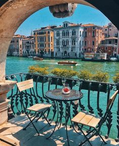 Table with a view beside the channel Venice Italy. Photo by Golden Heart Table with a view beside the channel Venice Italy. Photo by Golden Heart Italy Vacation, Vacation Spots, Italy Travel, Venice Travel, Tourist Spots, Italy Trip, Travel Europe, Italy Honeymoon, Italy Tours