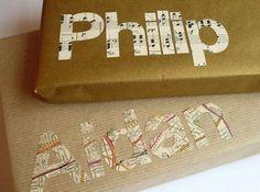 Geschenke-verpacken-originelle-Ideen-typografie-karte-noten
