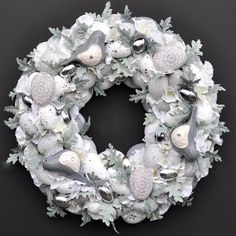 Wianek+wielkanocny+Nr+193 Hanukkah, Floral Wreath, Easter, Wreaths, Etsy, Home Decor, Floral Crown, Decoration Home, Door Wreaths