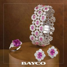 Every suite of jewelry needs four things - necklace, bracelet, earrings and ring. Here we complete our pink sapphire series with a beautiful bracelet, perfectly matched earrings, and a superb ring. #bayco #baycojewels #pinksapphire #sapphire #diamond #themostpreciousstonesintheworld #hautejoaillerie #luxury #newyork #precious #gemstonejewelry #thebest #thinkpink #pink #sapphirenecklace #luxuryjewelry