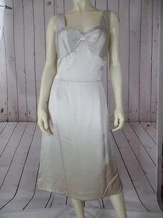 FIORI LORD & TAYLOR Sz 10 Dress NEW w/tag Silk Sleeveless Silver Prom Cocktail