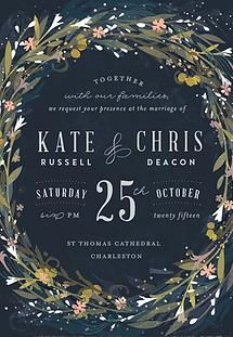 Gorgeous wreath style invite