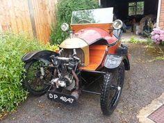 1922 Morgan Grand Prix - Three Wheeler. Vintage Cars, Antique Cars, Morgan Cars, Microcar, Reverse Trike, Trike Motorcycle, Vintage Cycles, Retro Futuristic, Car Wheels