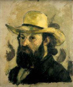 Paul Cézanne  ·  Autoritratto con cappello di paglia  ·  1875  ·  Museum of Modern Art  ·  New York