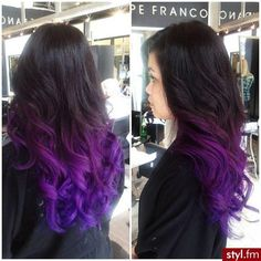 Want to do this with my hair! Purple :) I'm gonna grow my hair out n do this