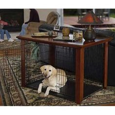 Midwest Heritage Crate Table Top   Smart Way To Use The Dog Crate And Have  It