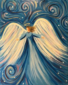 Acrylic painting techniques for beginners # acrylic painting # beginners – art pintura – Malerei Acrylic Painting For Beginners, Acrylic Painting Techniques, Angel Artwork, Angel Paintings, Angel Drawing, Angel Pictures, Pictures To Paint, Christmas Angels, Painting Inspiration