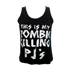 Goodie Two Sleeves Zombie Killing PJ Set | Gothic Clothing | Emo... ($56) found on Polyvore