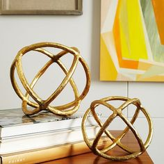 Sculptural Spheres | West Elm for coffee table or shelves