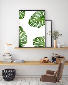 Leaf Print, Nature Poster, Instant Download, Modern Wall Art, Home Decor, Minimalist Print Green by FinlayAndNoa on Etsy https://www.etsy.com/listing/400902507/leaf-print-nature-poster-instant