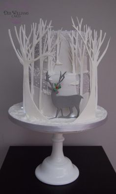 Reindeer in a winter wonderland - Cake by Deb Williams