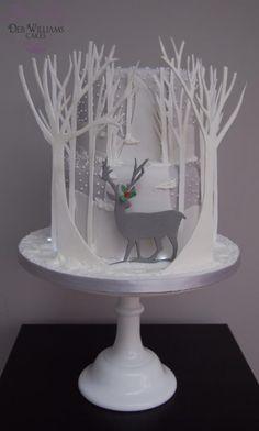 Reindeer in a winter wonderland - Cake by Deb Williams
