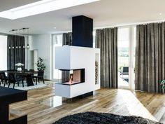 Kachelofen Modern Produkte - moderne Kamine & Kachelöfen vom Profi Herd, Divider, Room, Furniture, Home Decor, Tiling, Contemporary Design, Contemporary Fireplaces, Full Bath