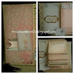 Tarjeta / mini album bebe Paula