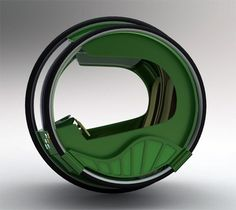 The eRinGo car is a rather strange concept car. A 2-seater that's capable of converting back  forth between 1  3-wheeled driving, depending on the curves of the road ahead, eRinGo looks like a half-crushed can of Heineken. Yikes! It has a cool 2 steering wheel concept - wherein the passenger on either side can take over driving duties -