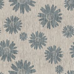 French Linen Daisy - Antique Blue fabric by kristopherk on Spoonflower - custom fabric