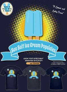 2ffc496138c Sea Salt Ice Cream Popsicles Mens T Shirt S-XXL  KingdomHearts