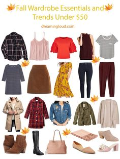 Fall Wardrobe Essentials and Trends Under $50 | dreaming loud.com  ------- Fall style, fall colors, fall outfit ideas, fall trends 2017, fall fashion