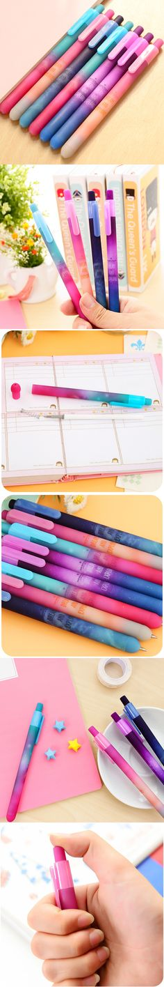 6 pcs/Lot Beautiful starry sky gel pen Star dream and explore black ink pens Stationery Office accessories School supplies 6585