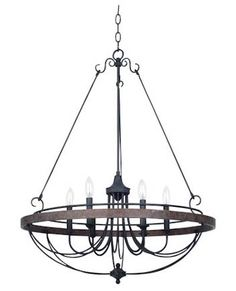 Iron 6-Light Chandelier
