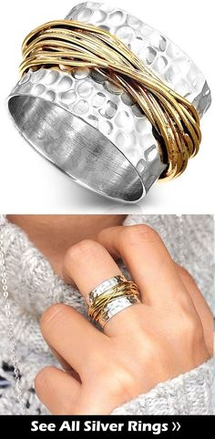 a4c2ab9c6be8 Wide band silver ring Sterling silver handmade statement boho rings  bohemian rings. full finger large