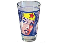Wonder Woman Pop Art Face Pint Glass - Wonder Woman Apparel & Accessories