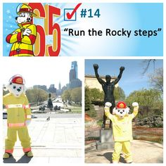 "Sparky got to spend a day in Philadelphia, where he checked off two of his bucket list items by running the famous ""Rocky steps"" and visiting"