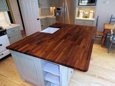 Teak Eco Pro Kitchen Island Countertop. This Top Was Made For Millbrook  Cabinetry And