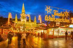 Traditional Christmas market in Vienna, Austria  #christmasmarkets #AroundTheWorld #fourdaystilChristmas www.cheapbestfares.com Call us @ 1-855-222-7164